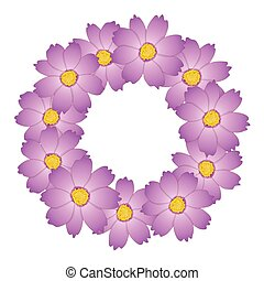 Pink Cosmos Flower Wreath
