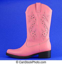 Pink cowboy boot