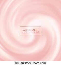 Pink Creamy Swirling Background. Vector Illustration....