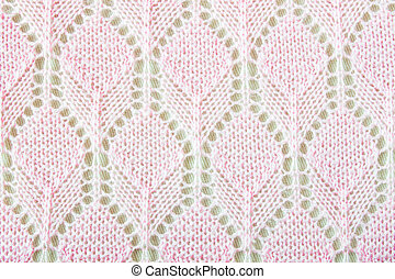 Pink Crochet Fabric Texture Background