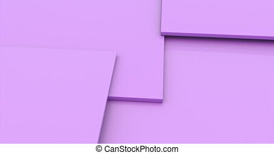 Pink cubes. Abstract 3d rendering of rotating vivid shape. Cgi loop animation. Modern colorful background. Seamless motion design for poster, cover, branding, banner, placard.