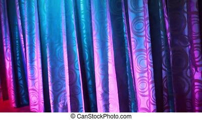 Pink curtains in disco cabaret. 1920x1080, hd