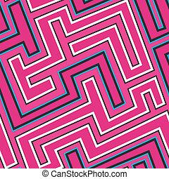 pink curve seamless pattern