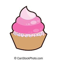 pink cute cupcake dessert cake
