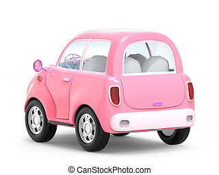 pink cute trip car back