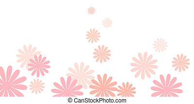 pink daisy flowers background - drawing of pink daisy...