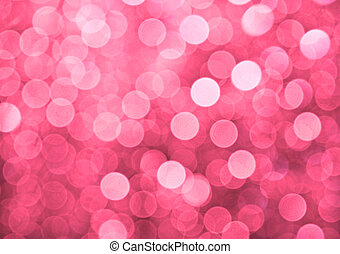 Pink defocused lights