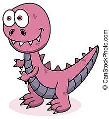 pink dinosaur smiling