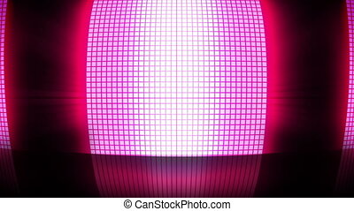 Pink disco lights flashing