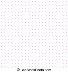 Pink Dots White Background