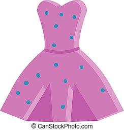 Pink dress illustration vector on white background