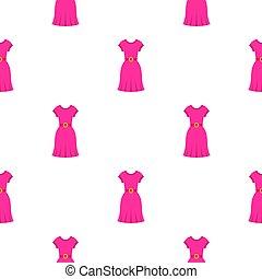 Pink dress pattern seamless