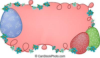 Pink easter banner