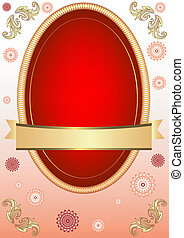 Pink Easter floral card (vector)