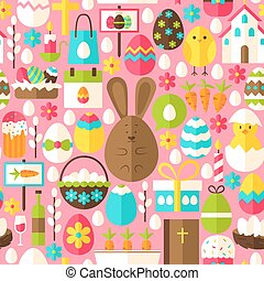 Pink Easter Seamless Pattern