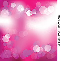 Pink elegant abstract background with bokeh lights