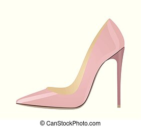 Pink elegant shoe