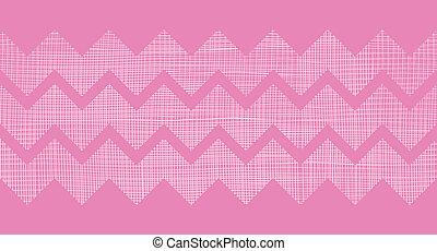 Pink fabric textured chevron stripes horizontal seamless...