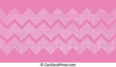 Pink fabric textured chevron stripes horizontal seamless...