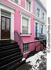 Pink facade house