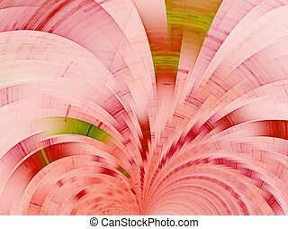 Pink fan. Abstract background