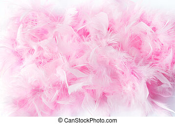 pink feather boa - soft focus close-up of pink feather boa