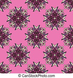 Pink Festive Abstract Vector Pattern
