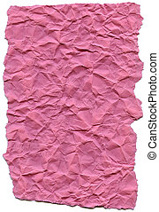 Pink Fiber Paper - Crumpled with Torn Edges