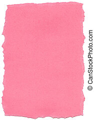 Pink Fiber Paper - Torn Edges