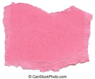 Pink Fiber Paper - Torn Edges