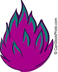Pink fire, illustration, vector on white background.