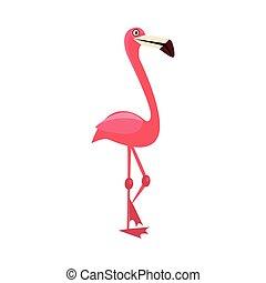 Pink Flamingo Funny Illustration