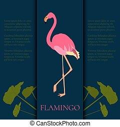 Pink flamingo template