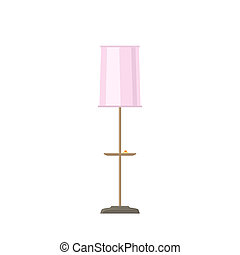 Pink floor lamps isolated on white
