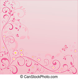Pink floral background. See my gallery for more