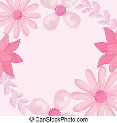 pink floral background with beautiful flowers
