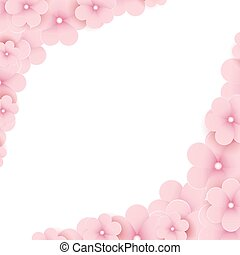 Pink floral background with place for text