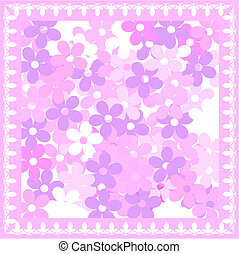 Pink floral card