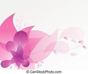 Pink Floral Design Vector Backgound