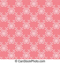 Pink floral lacy background.