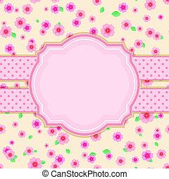 Floral Stylish Vintage Card