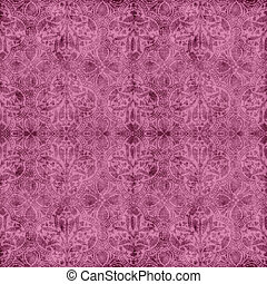 Pink Floral Tapestry