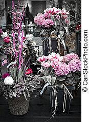 Pink flower arrangements