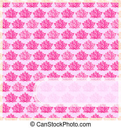 Pink Flower Card with Straight Label