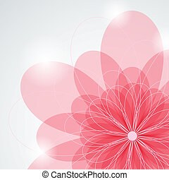 Pink flower - Vector picture with pink flower