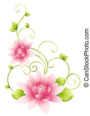 pink flower - drawing of pink flower in a white background