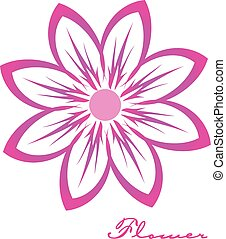 Pink flower image logo design