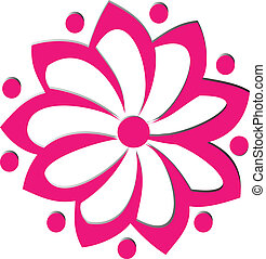 pink flower logo vector