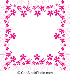pink flowers foliage