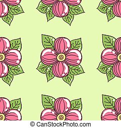Pink Flowers On Green